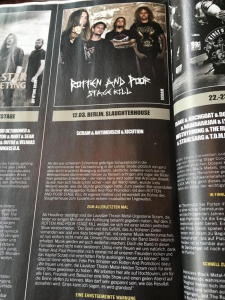 Rotten And Poor Stage Kill - print promotion