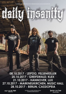 Daily Insanity Tour 2017 - Tourposter